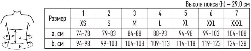 p1 - Пояс медицинский эластичный, согревающий Tonus 9509-AM